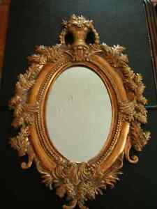 Mirror, Ornate with Antique Gold Finish.