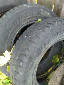 2001 CRV winter tires. Grand Caravan tires on rim. Windsor Region Ontario image 1