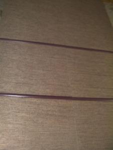 "4 pcs Patio Blinds 108"" + Hard Wood Bar+ Hardware"