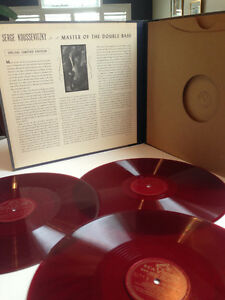 """Red Vinyl - Serge Koussevitzky """"Masters of the Double Bass"""" Kitchener / Waterloo Kitchener Area image 1"""