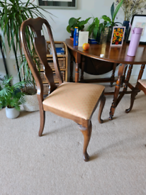 4 dining room chairs, solid wood £50