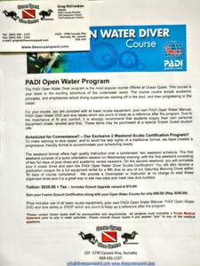 Scuba lesson - PADI Open Water Diver Course