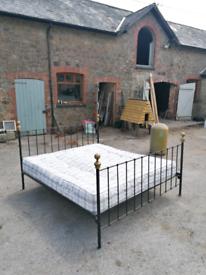Beautiful handmade brass bed & frame