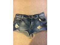 Worn women's ZARA size 10 denim shorts £1.50