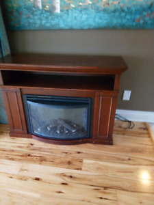 electric fireplace and stand