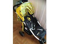 Koochi Pushmatic 3 Wheel Stroller - Yellow