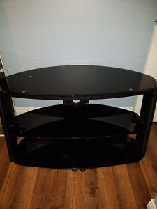 3 tier tempered glass entertainment unit