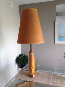 Lampe de Table en Bois ** VINTAGE ** Wood Table Lamp