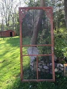 Wooden screen door x 2