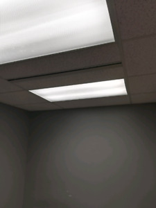 2x4 and 1x4 347V suspended ceiling fixtures