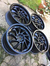 18' turbine alloy wheels 4x100. 4x108