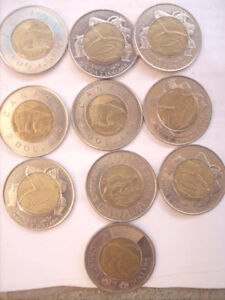 Canadian $2 Collectible, set of 10