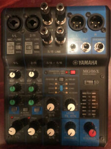 Barely Used Yamaha 6 Channel MG Series Mixer w/Effects w/ Cables