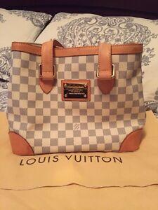 Authentic Louis Vuitton Hampstead Damier Azur