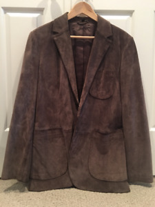 Club Monaco men's suede jacket