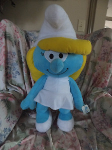 """The Smurfs - Smurfette Stuffed Toy Stands at 26"""""""