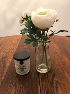 Brand New/Tags Attached Candle and Flower - Hobby Lobby