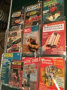 10 VINTAGE POPULAR SCIENCE/CAR& MISC.  MAGAZINES