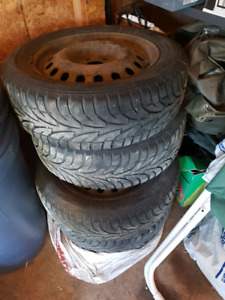 Old winter tires on rims 215 60 17