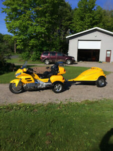 2001 Honda Goldwing 1800 GL with trailer and Tow Pac Trike Kit