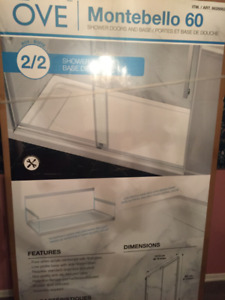"OVE - 58.19"" x 32"" Shower Base - Brand New"