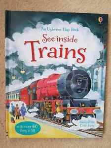 """Usborne """"See Inside Trains"""" lift-the-flap books for sale BRAND N"""