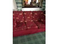 Free 3,1,1 red sofa . For collection only