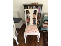 4 Queen Anne style vintage shabby chic dining chairs