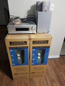 JVC Surround Sound System with MTS 2208 Tower Speakers