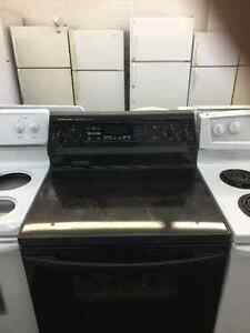 Smooth top stove convection glass ceramic self cleaning