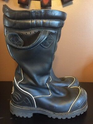 Thorogood Hellfire Leather Hybrid Firefighter Turnout Boots Size 8 Wide Euc