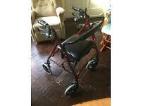 Four Wheeled Rollator Ruby
