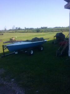 14ft Mirage Sail Boat with Easy Hauler Trailer