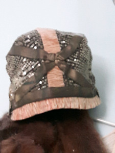 Antique vintage flapper hats