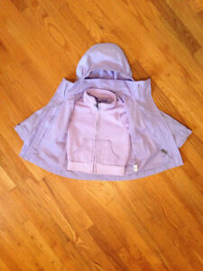 CHILDREN'S PLACE 3 IN 1 PURPLE JACKET WITH REMOVABLE FLEECE
