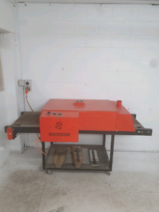 Screen printing equipment set up tunnel dryer, carousel and more