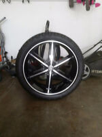 """24"""" wheels with tires"""