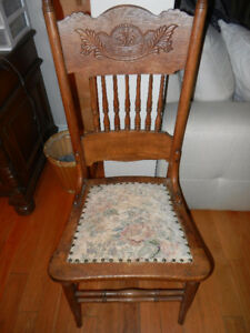 Elegant Vintage Wooden Chair