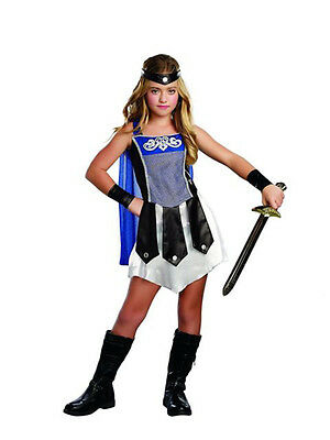 GLADIATOR GIRL ROMAN WARRIOR CHILD HALLOWEEN COSTUME GIRL'S SIZE MEDIUM 8-10