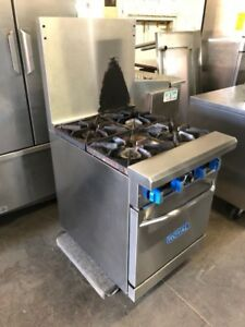 """Only 24"""" wide Imperial 4 burner stove with oven"""