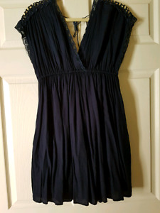 Size medium Navy blue dress with lace