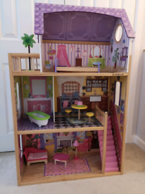 Kidkraft 65092 Kayla Wooden Dolls House with Furniture and Accessories