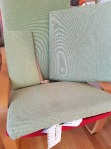Used Ikea Poang chair cushions and stool cushion