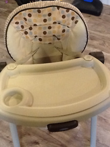 Graco adjustable height high chair for sale