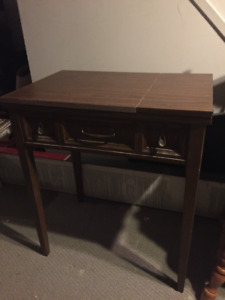 Sewing Machine (Singer) wiTable cabinet & chair - - Must Sell