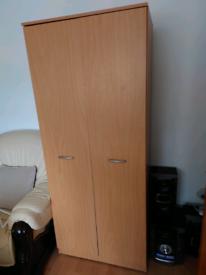 Single small solid wood wardrobe