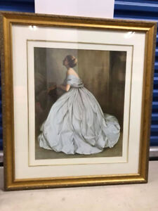 Wall Picture - Elegant Lady - Wood Frame