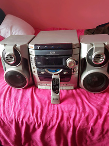 3 disc CD and cassette stereo