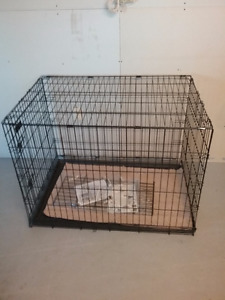 LARGE DOG CAGE 42X28X30  NEW