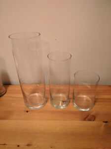 Vases for sale - ideal for wedding centerpieces/decor